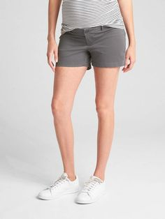 4e0e0060b910 Gap Maternity Inset Panel Summer Shorts in Stretch Twill Gap Women, Summer  Shorts, Welt