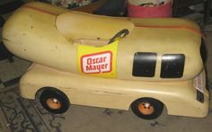 Vintage Peddle Cars on oscar meyer weiner pedal car