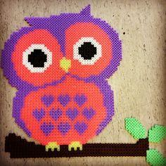 Owl hama perler beads by plingfrid