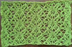 Gardens: a free lace knitting stitch pattern