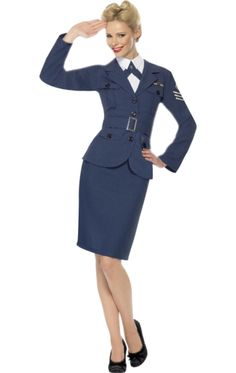 Looking for Air Force Female Captain, Blue? Get it from our wholesale Wartime Fancy Dress range today. Visits Smiffy's wholesale for all your Adult Fancy Dress needs today. Army Girl Costumes, Military Costumes, Blue Costumes, Adult Costumes, Costumes For Women, Halloween Costumes, Army Costume, Retro Halloween, Women Halloween