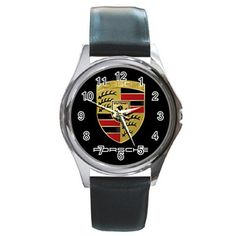 Leatherband Porsche Logo Stuttgart Germany Watch by hwandikaiko