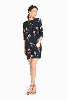 Aubrey Silk Floral Dress