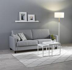 Kotimainen Aina-vuodesohva, josta avautuu helposti tukeva parivuode. #sisustusinspiraatio #sisustussuunnittelu #sohva #vuodesohva #olohuone #finsoffat #grey #greyinterior #lightinterior Couch, Furniture, Home Decor, Bedrooms, Settee, Decoration Home, Sofa, Room Decor, Home Furnishings