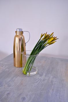 Vintage thermos and Jenaer Glass scoop.