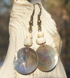 seaside vacation earrings    http://www.etsy.com/listing/65918968/seaside-vacation-earrings-white-mussel