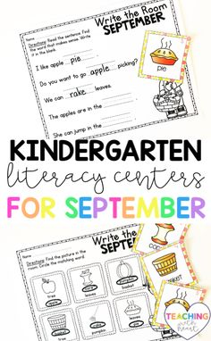 Looking for a kindergarten literacy center that your kids will love? With September Write the Room, your kids will get up and moving to find the September themed cards posted around your classroom. They'll record what they find on one of the four differentiated recording sheets. This is a literacy center that your kids will BEG to play each month! Primary Classroom, Elementary Teacher, Elementary Education, Kindergarten Literacy, Literacy Centers, Recording Sheets, Word Pictures, Writing Resources, Language Arts