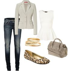 A fashion look from June 2012 featuring sleeveless shirts, blazer jacket and denim jeans. Browse and shop related looks.