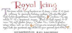 Royal icing recipe by Susan Branch Old Recipes, Vintage Recipes, Cooking Recipes, Cooking Ideas, Yummy Recipes, Cake Recipes, Icing Frosting, Frosting Recipes, Susan Branch Blog