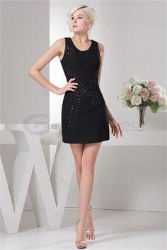 Elegant Chiffon Silk-like Satin Acrylic Sleeveless Holiday Dress