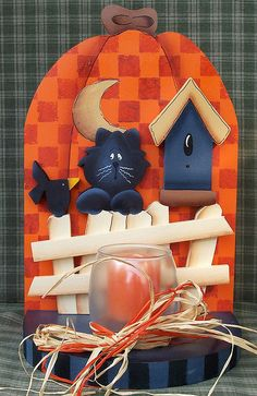 halloween votive holder by Regina Moore, via Flickr