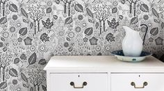 Autumn Wallpaper in Charcoal 10m x 52cm roll by boldandnoble
