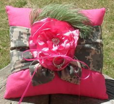Camo ring bearer's pillow