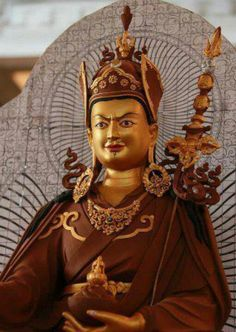 Guru Rinpoche. Love the mix of stern and smile.