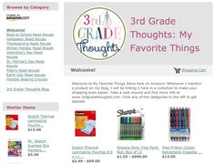 My Favorite Amazon Things in One Easy Place - 3rd Grade Thoughts