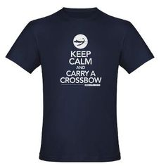 Keep Calm and Carry a Crossbow - Walking Dead Zombie Shirt, More Funny T-shirts Hedgehog Design