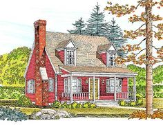 Efficiently Planned Farmhouse Plan - 47150BC | Cape Cod, Country, Narrow Lot, 1st Floor Master Suite | Architectural Designs