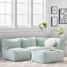 Build Your Own - Prescott Sectional Sofa Teen Furniture, Lounge Furniture, Furniture Design, Hangout Room, Corner Chair, Lounge Seating, Pottery Barn Teen, Modular Design, Teen Bedroom