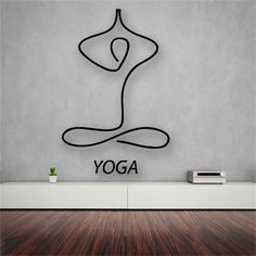 Yoga Meditation Living Room Decor - Vinyl Wall Decal Sticker for Home Decoration