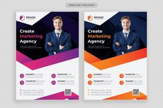 Business flyer template with photo | Premium Vector #Freepik #vector #flyer #business #abstract #template Business Presentation Templates, Business Flyer Templates, Design 24, Flyer Design, Communication Networks, Coreldraw, Service Design, Abstract Template, Vector Freepik