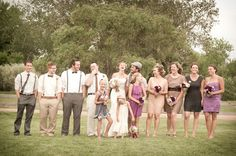 Featured on Colorado Weddings Magazine's blog today! Love the style of the wedding party. #suspenders #bow-ties #lace