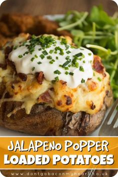 Appetizer Recipes Discover Jalapeño Popper Loaded Potatoes Gluten free Serves two worlds collide Twice Baked Potatoes loaded with a creamy dreamy Jalapeño Popper filling. Food comas have never been more delicious! Twice Baked Potatoes, Double Baked Potatoes, Stuffed Baked Potatoes, Oven Baked Potato, Hasselback Potatoes, Parmesan Potatoes, Parmesan Sauce, Garlic Mashed Potatoes, Parmesan Pasta