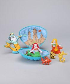 Take a look at this Mermaid Tote Bag Plush Set by Alma's Designs on #zulily today!