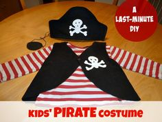 How to make a PIRATE costume for kids - last minute DIY