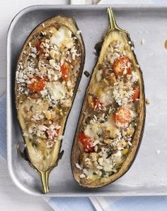 Italian-style stuffed eggplant.  the eggplant in the garden should be ready in a couple of weeks.