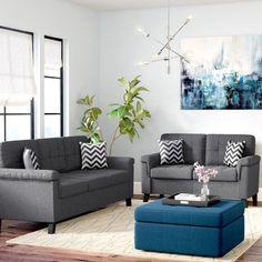 Ebern Designs Whitmore 2 Piece Living Room Set Cheap Living Room Sets Living Room Sets Living Room Arrangements
