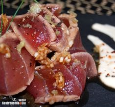 Receta de Tataki de atún con ajoblanco