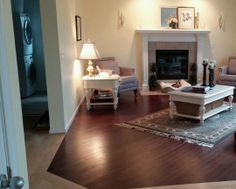 This Living Room Features Maple Bordeaux Hardwood Installed By Riemer Floors .