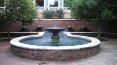 Fountain across from Furman's Rose Garden