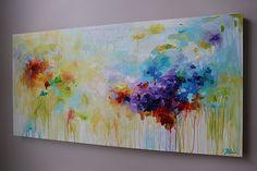 pintura abstracta original azul abstracto pintura por artbyoak1