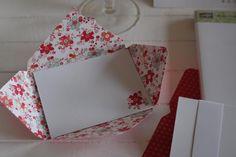 inside of handmade Valentine envelope ...