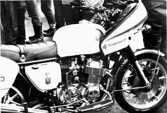 Honda CB750 SOHC with Winjammer II fairing and BMW snowflake rims (and BMW tank?)