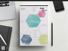 I love this!! DAILY FOCUS PRINTABLE Day Planner Spring 2015 Range [Designed by and for female entrepreneurs] Business printables resources