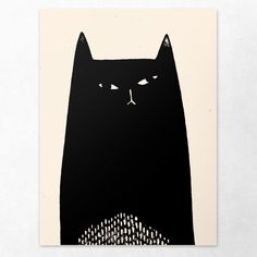 """Cat #143. Giclee print. Available in 8""""x10"""" and 18""""x24"""" sizes. Part of the collection Cats."""