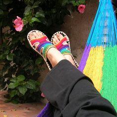 Rainbow Crocheted Sandals