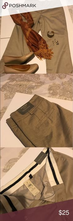 New - Ann Taylor Signature Trouser Pants (size 8) New with tags - Ann Taylor Signature Trouser Pants Tropical Wool;  The perfect pants made of versatile and light weight tropical wool with a touch of stretch, streamlined fit. Proportional contouring with suit like, tailored detailing. Curvy fit that sits high on the waist and fits curvy through the hip and thigh. 33 1/4 inch inseam. Outside material: 52% rayon, 46% virgin wool, 2% Lycra spandex. Lining is 94% polyester, 6% spandex. Ann…