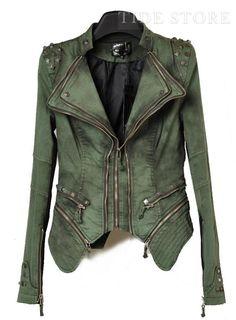 Women Sharp Power Studded Shoulder Notched Lapel Denim Jeans Tuxedo Coat Jacket in Coats, Jackets Denim Biker Jacket, Studded Denim Jacket, Blazer Jacket, Tuxedo Coat, Tuxedo Jacket, Denim Vintage, Vintage Tuxedo, Bikini, Fashion Outfits
