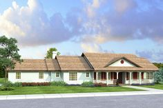 House Plan 035-00797 - Ranch Plan: 2,233 Square Feet, 3 Bedrooms, 2.5 Bathrooms