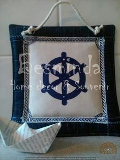 Textiles pictures, sailing, sunshine, summer decor, souvenir, handmade