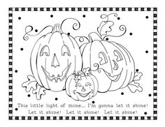 halloween christian coloring pages | Christian Halloween Coloring Pages....perfect for the preschool fall harvest party @Jessica Mendez