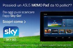 Tecnologo TV - TPC TV: ASUS annuncia la compatibilità dell'app Sky Go con...