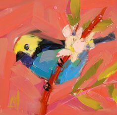 Paradise Tanager no. 3 original bird oil painting by prattcreekart
