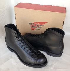 """Red Wing boot style 2995 Leather Cigar """"Retan"""" New in Box Size 10 D. Glossy Retan leather upper with stitching detail. Combining Black nitrile cork sole and Goodyear welt construction, original only to Red Wing. 