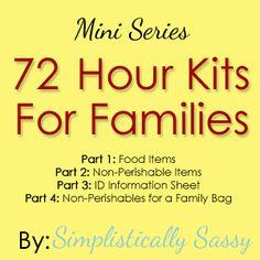 72 Hour Kits - Simplistically Sassy