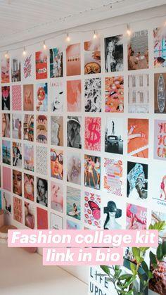 Teen Room Decor, Teen Bedroom, Bedroom Decor, Photo Wall Art, Picture Wall, Teen Girl Gifts, Diy Wall Decor, Home Decor, Fashion Collage