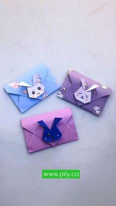 Diy Crafts For Girls, Fun Diy Crafts, Creative Crafts, Diy For Kids, Handmade Crafts, Instruções Origami, Cute Origami, Cool Paper Crafts, Paper Crafts Origami